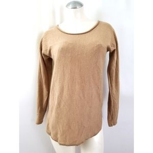Max Studio Size L Beige Tan Wool Knit Top
